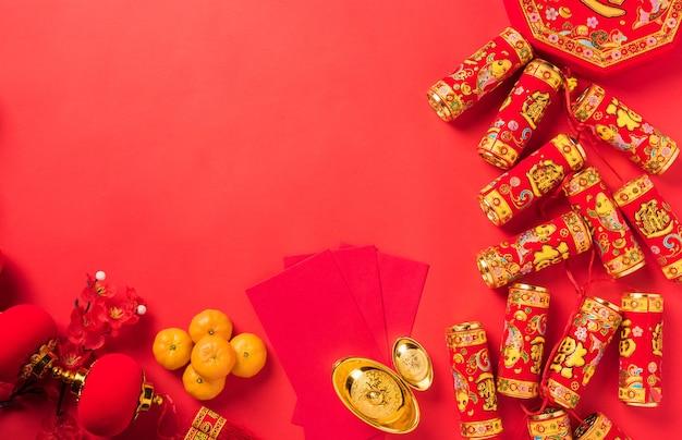 Decorações de celebração do festival de ano novo chinês