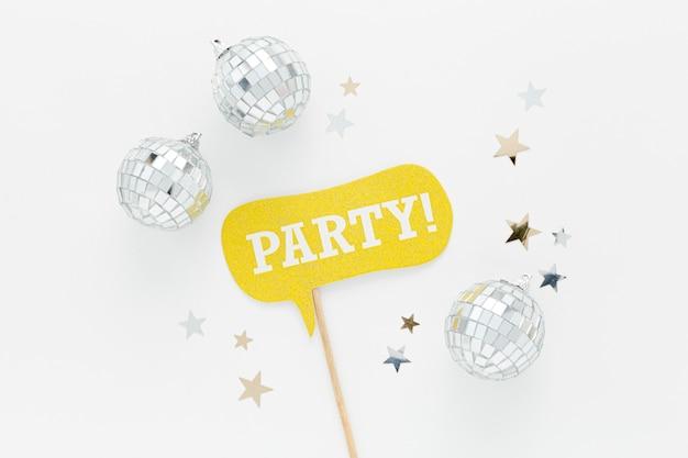 Decorações de globos de prata para festa