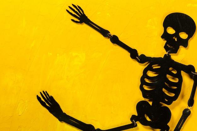 Decorações de halloween na mesa