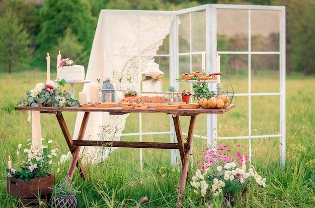 Decorações de mesa de casamento