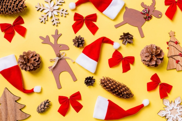 Decorações de natal. conceito de feliz ano novo.