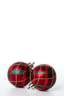 Decorações de natal na árvore de natal