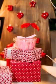Decorações de natal para presentes de ano novo