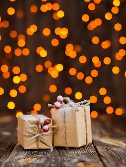 Decorações de presentes de natal