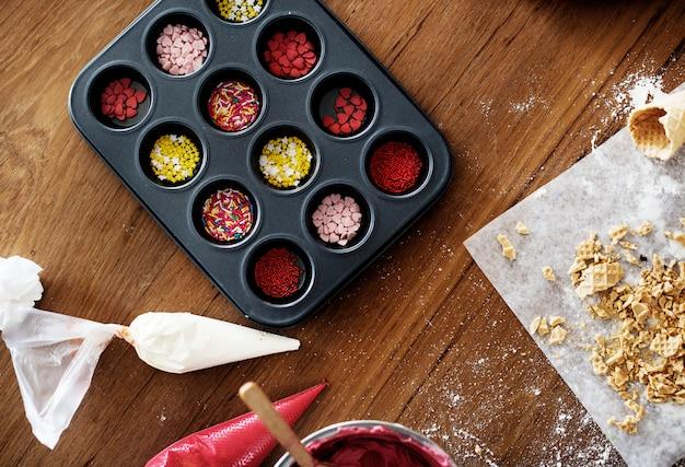 Decorações para fazer bolinhos de natal