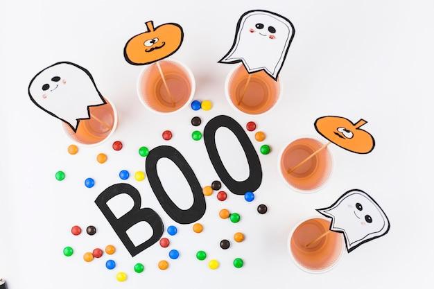 Decorações para o halloween e gotas