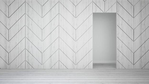 Decore a parede na sala vazia - rendição 3d