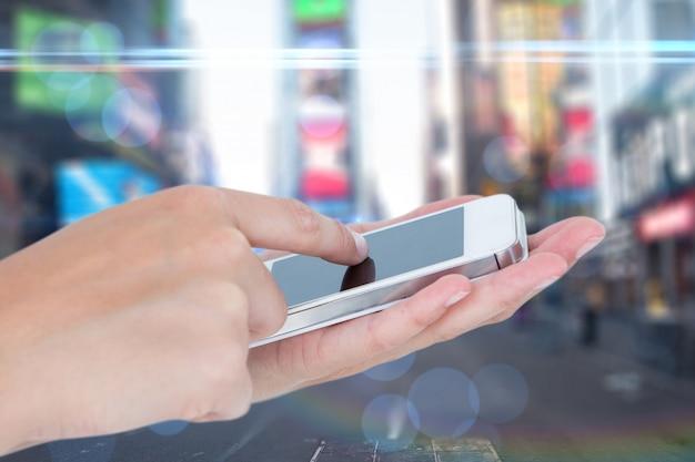 Dedo tela do celular tocar