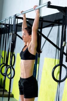 Dedos crossfit para bar mulher pull-ups 2 bares treino