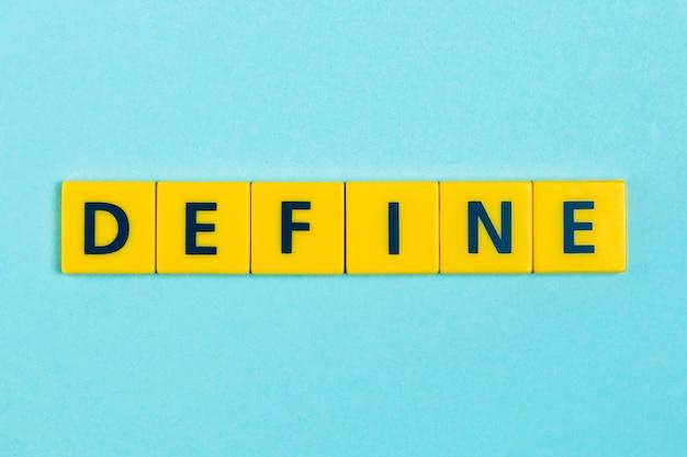 Definir palavra em telhas scrabble