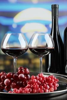 Degustação de vinhos em restaurante