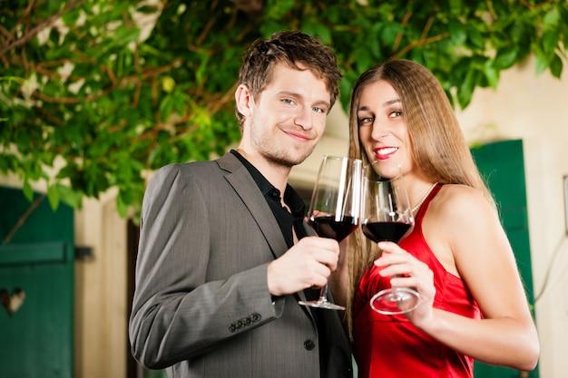 Degustação de vinhos no restaurante