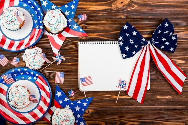 Deleite e decoração para o dia da independência