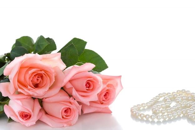 Delicado buquê de rosas