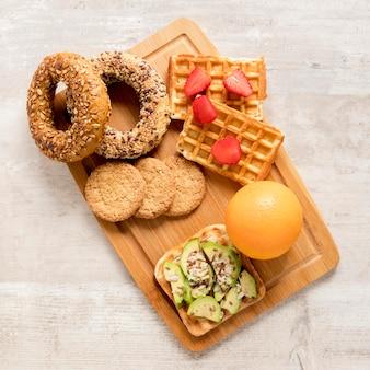 Delicase de variedade no café da manhã