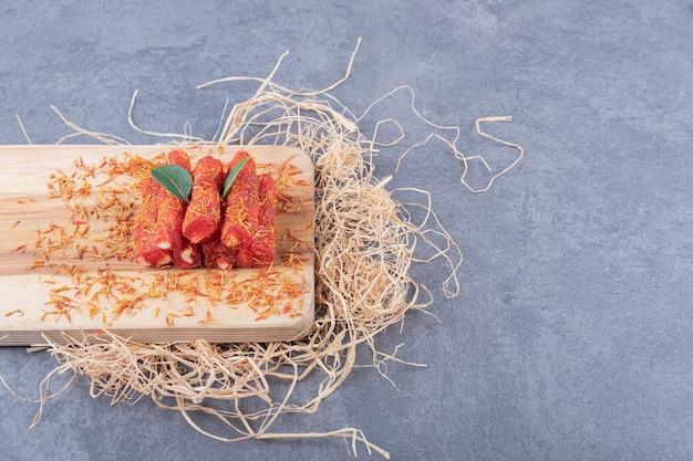 Delícia turca rahat lokum com pistache.