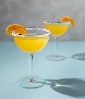 Deliciosa composição de bebida de mezcal