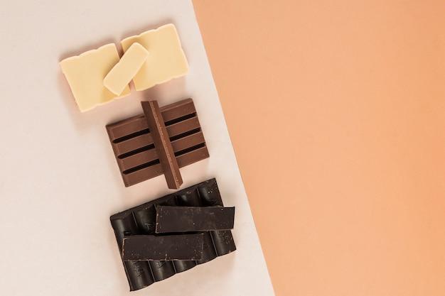 Deliciosa composição de chocolate