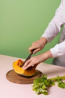 Deliciosa composição de comida saudável