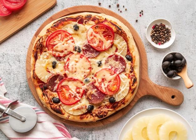 Deliciosa composição tradicional de pizza