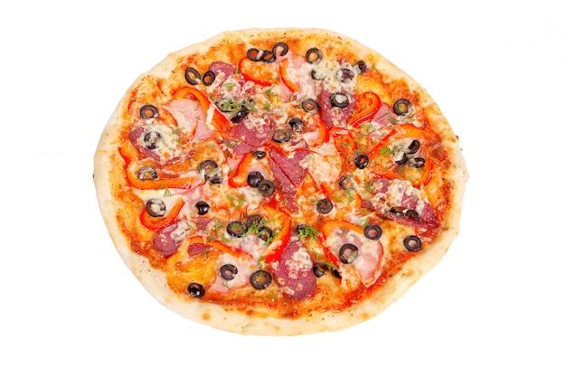 Deliciosa pizza com salame