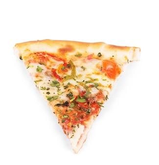 Deliciosa pizza italiana sobre branco