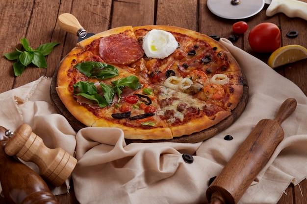 Deliciosa pizza preparada fresca
