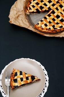 Deliciosa torta de mirtilo