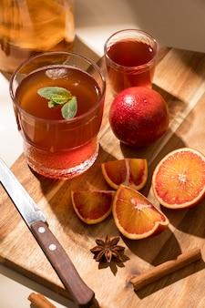 Deliciosa variedade de bebida kombuchá