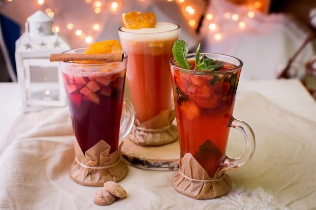 Deliciosas bebidas doces para festa de natal