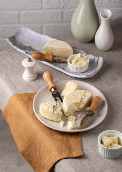 Delicioso arranjo de queijo paneer