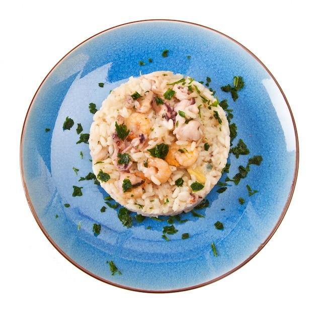 Delicioso arroz com frutos do mar