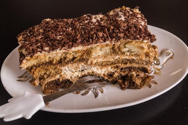Delicioso bolo caseiro tiramisu