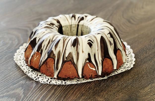 Delicioso bolo com chocolate
