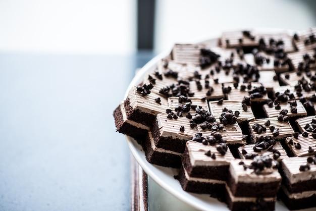 Delicioso bolo feito à mão