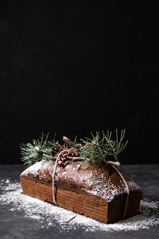 Delicioso bolo feito especial para o natal
