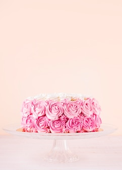 Delicioso bolo rosa