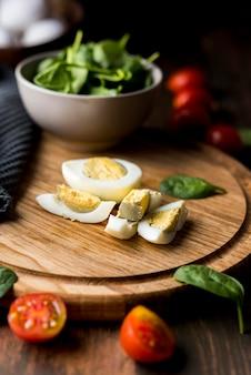 Delicioso café da manhã com ovos