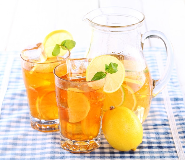 Delicioso chá gelado