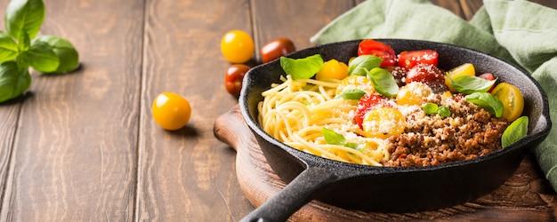 Delicioso esparguete à bolonhesa