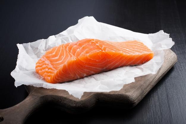 Delicioso filé de salmão, rico em ômega 3