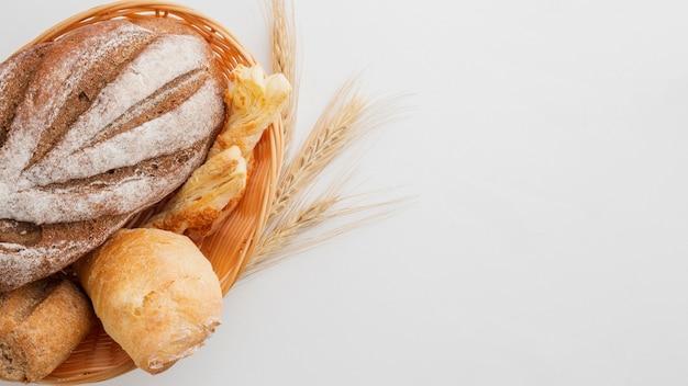 Delicioso pão com trigo