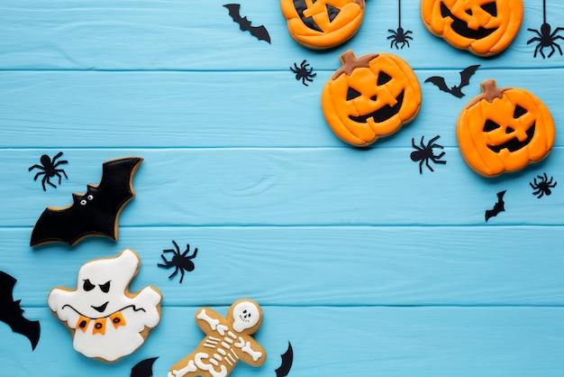 Deliciosos biscoitos de abóbora de halloween