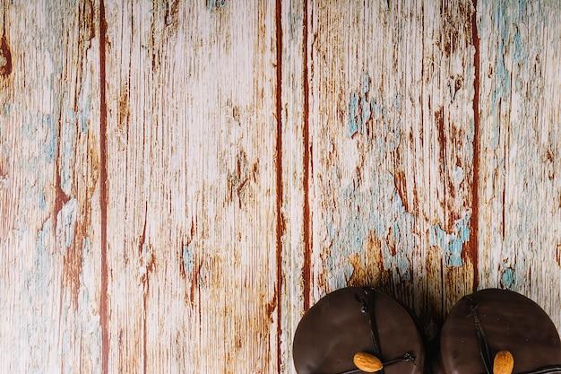 Deliciosos biscoitos de chocolate