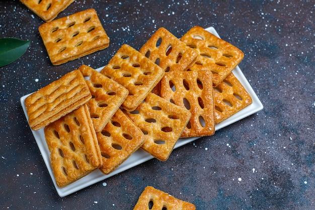 Deliciosos biscoitos de massa folhada