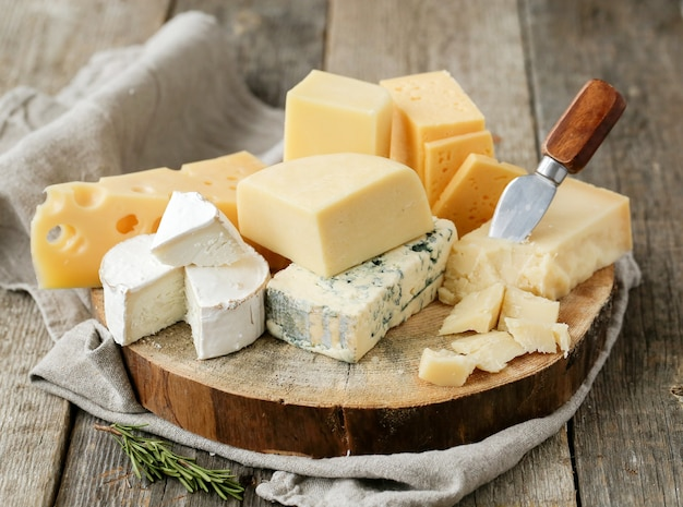 Deliciosos pedaços de queijo