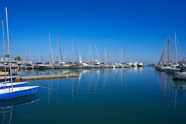 Denia marina barcos de porto em alicante