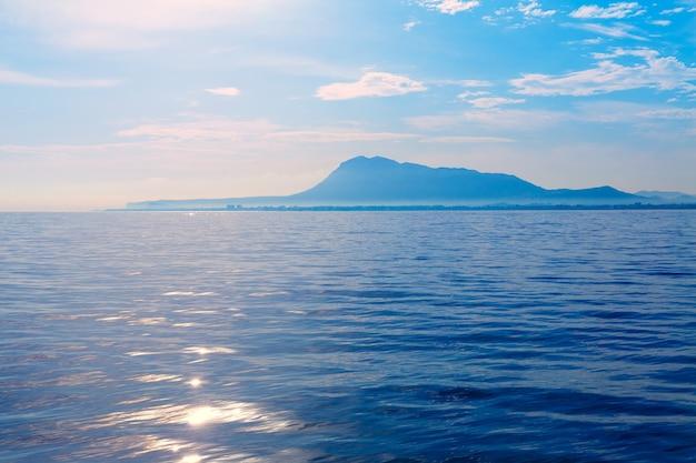 Denia san antonio cape e montgo vista do mar