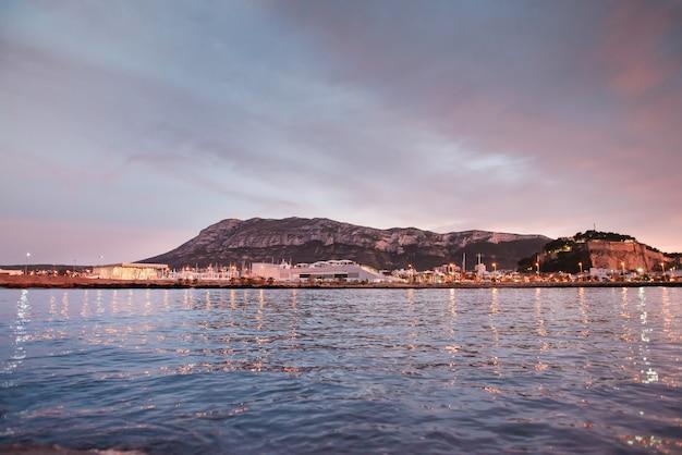 Denia sunset vista do porto