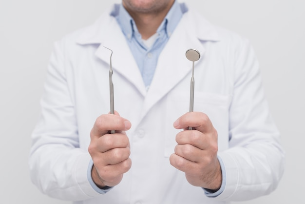 Dentista, apresentando, ferramentas